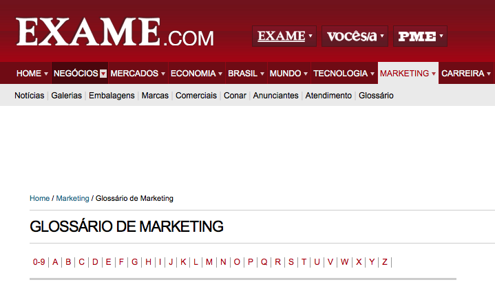 Glossário de Marketing