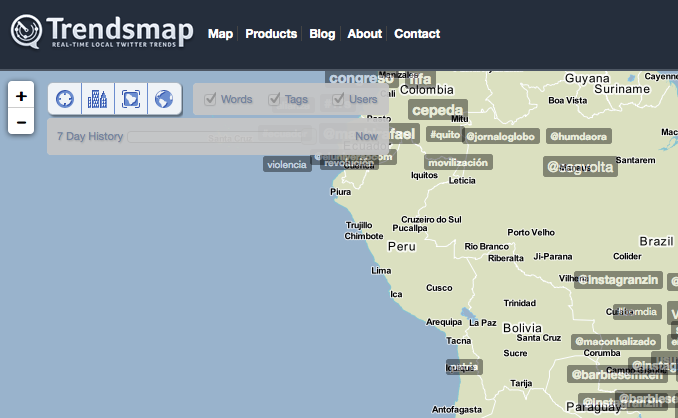 Mapeamento de Trending Topics